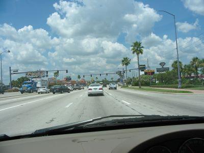 Ein Highway. Eindrücke von Orlando während meiner Reise nach Florida, USA.