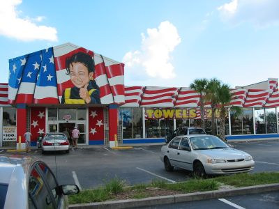 Ein amerikanisches Geschäft. Eindrücke von Orlando während meiner Reise nach Florida, USA.