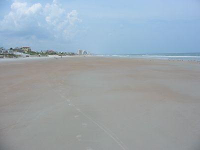 Kilometerlanger Sandstrand und tolles Wetter in Florida. Eindrücke von Orlando während meiner Reise nach Florida, USA.