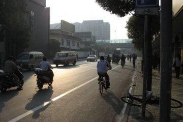 Morgensonne. Mein Arbeitsweg durch Shanghai 上海, China 中国
