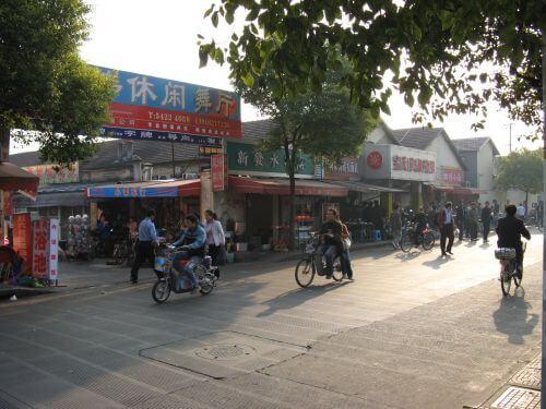 Markt. Mein Arbeitsweg durch Shanghai 上海, China 中国