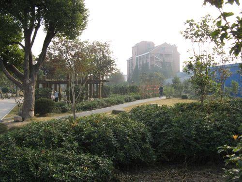 Kleiner Park. Mein Arbeitsweg durch Shanghai 上海, China 中国