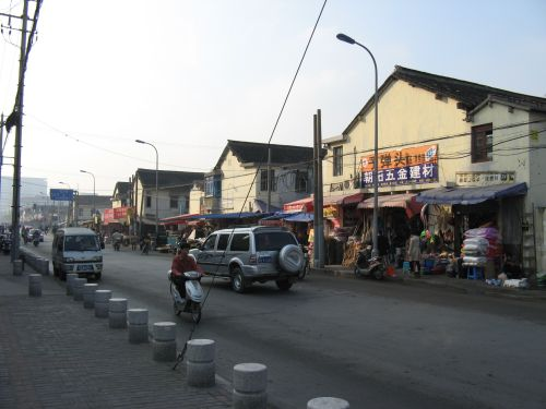 Alte Wohnsiedlung. Mein Arbeitsweg durch Shanghai 上海, China 中国