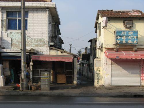 Hüttensiedlung. Mein Arbeitsweg durch Shanghai 上海, China 中国