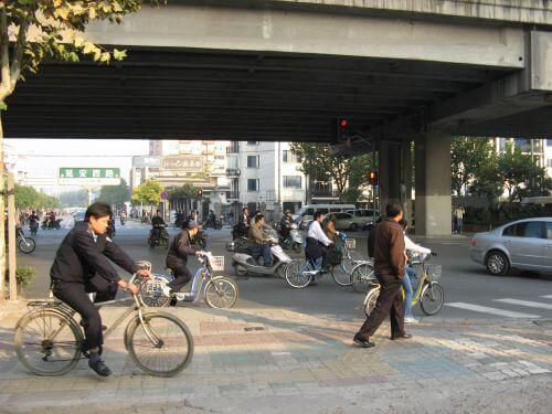 Highway. Mein Arbeitsweg durch Shanghai 上海, China 中国