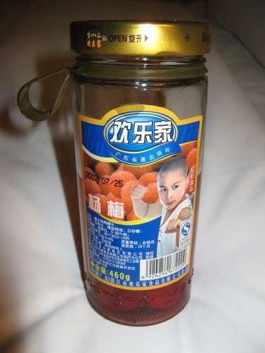 Konserven Früchte. Einkaufen in Shanghai 上海