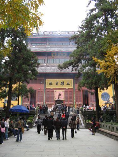 Tempelanlage in Hangzhou 杭州 und der Westsee 西湖, China 中国