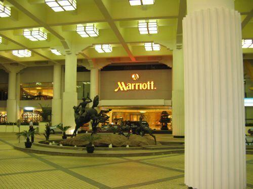 Zufahrt zum Marriott Hongqiao Hotel Shanghai 上海, China 中国