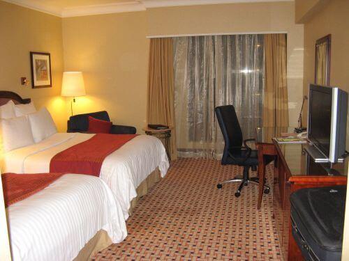 Hotelzimmer im Marriott Hongqiao Hotel Shanghai 上海, China 中国
