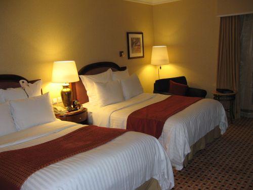 Betten im Marriott Hongqiao Hotel Shanghai 上海, China 中国