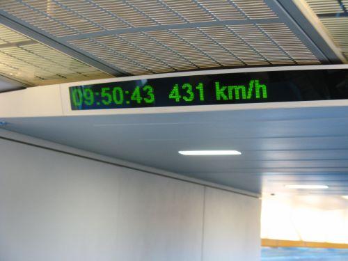 Höchstgeschwindigkeit der Magnetschwebebahn. Mein erster Tag in Shanghai 上海 - eine Fahrt mit der Magnetschwebebahn Maglev