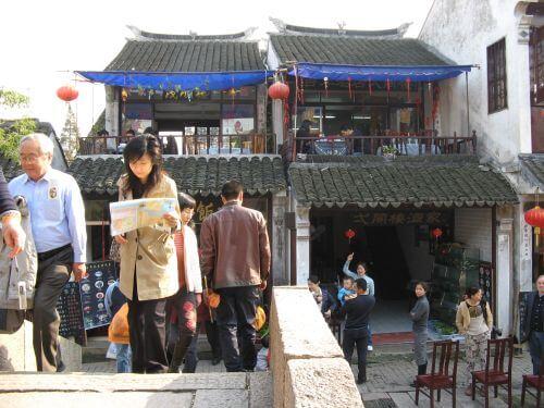 Restaurants in Zhouzhuang 周庄镇 - eine der bekanntesten Wasserstädte, Shanghai 上海, China 中国