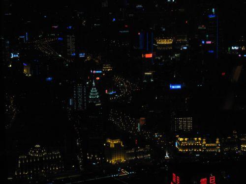 Blick auf die Stadt vom Jin Mao Tower 金茂大厦 und Cloud 9 Bar, Shanghai 上海, China 中国