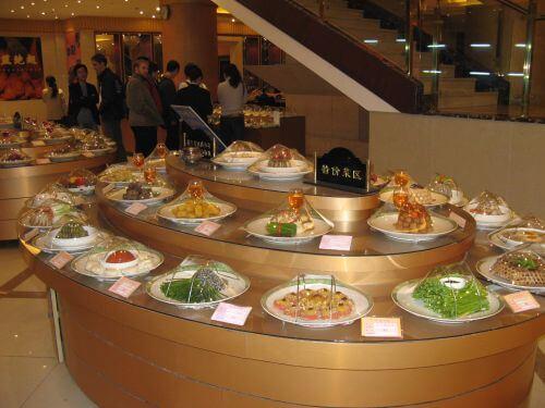 Große Auswahl im Seafood Restaurant, Shanghai 上海, China 中国