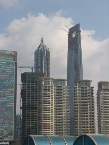 Blick auf das neue Shanghai, Pudong. Shanghai 上海 - The Bund 外滩 und die Innestadt, China 中国