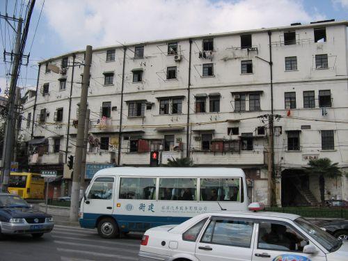 Alter Wohnblock. Shanghai 上海 - The Bund 外滩 und die Innestadt, China 中国