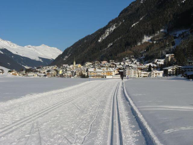 Loipe in Ischgl. Winterurlaub und Skifahren in Kappl und Ischgl.