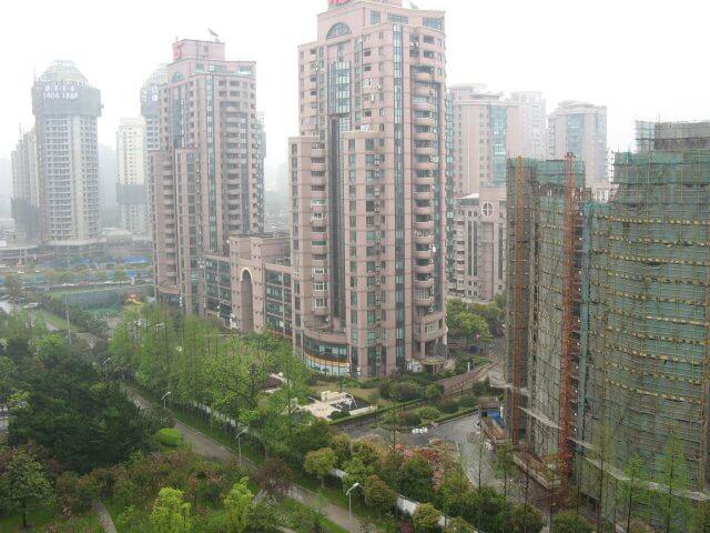 Blick aus dem Fenster. Das Millenium Hongqiao Hotel, China 中国, Shanghai 上海