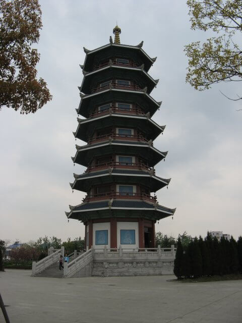 Tempelanlage in Qibao 七宝镇 - die 'Seven Treasures Town' mitten in Shanghai 上海, China 中国.