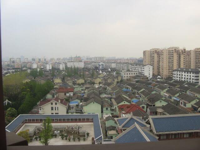 Ausblick vom Turm in Qibao 七宝镇 - die 'Seven Treasures Town' mitten in Shanghai 上海, China 中国.