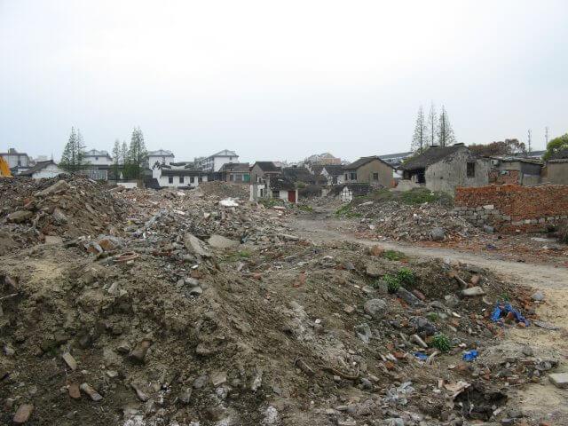 Abrißgebiet in Qibao 七宝镇 - die 'Seven Treasures Town' mitten in Shanghai 上海, China 中国.