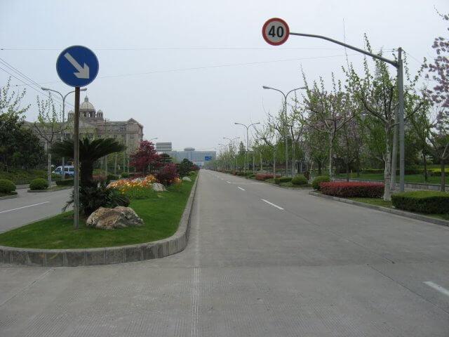 Schöne Allee in Songjiang 松江区 - ein unbeabsichtigter Besuch, China 中国, Shanghai 上海