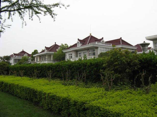 Moderne Villen in Songjiang 松江区 - ein unbeabsichtigter Besuch, China 中国, Shanghai 上海