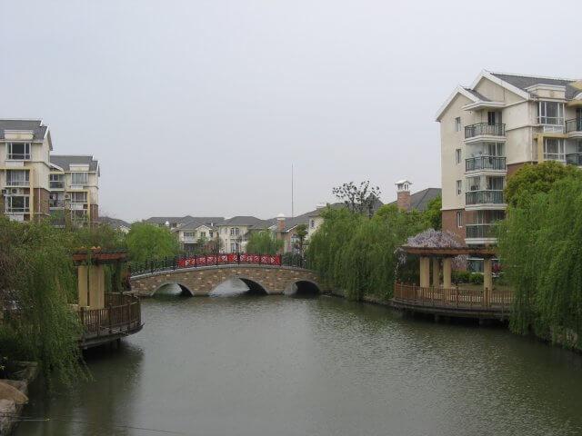 Fluß in Songjiang 松江区 - ein unbeabsichtigter Besuch, China 中国, Shanghai 上海