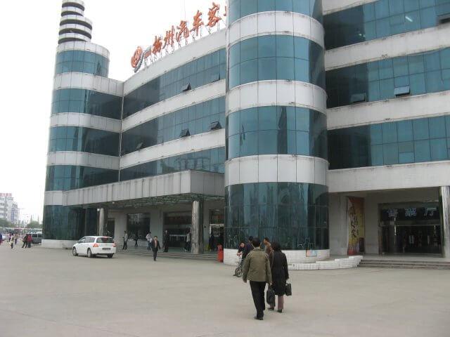 Busbahnhof. Dienstreise nach Yangzhou 扬州市, Slender West Lake 瘦西湖), China.
