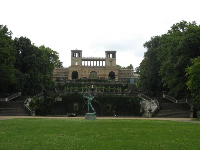 Brunnenanlage. Eindrücke aus Potsdam, Sanssouci und neues Palais.