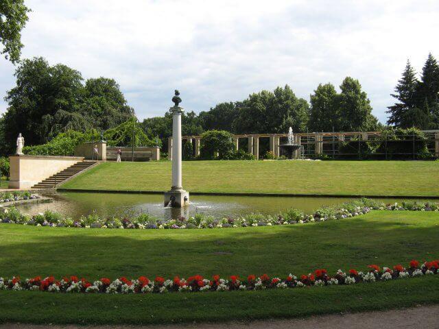 Teichanlage. Eindrücke aus Potsdam, Sanssouci und neues Palais.