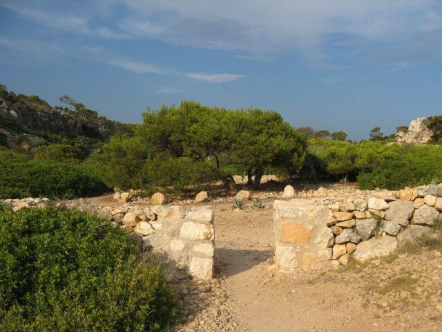 Trockensteinmauer. Wanderungen in der Bergwelt Mallorcas.