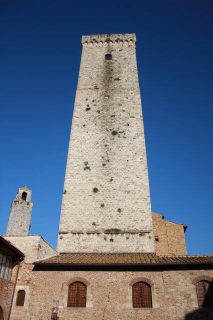 Wohnturm. Toskana-Landschaft, Italien