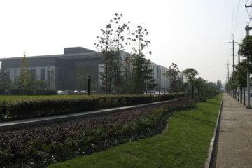 Blick auf den Philips Research Campus in Shanghai auf dem Gelände des Shanghai Caohejing Hi-Tech Parks
