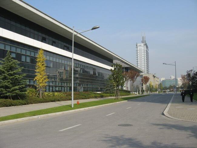 Philips Research Gebäude Shanghai auf dem Gelände des Shanghai Caohejing Hi-Tech Parks