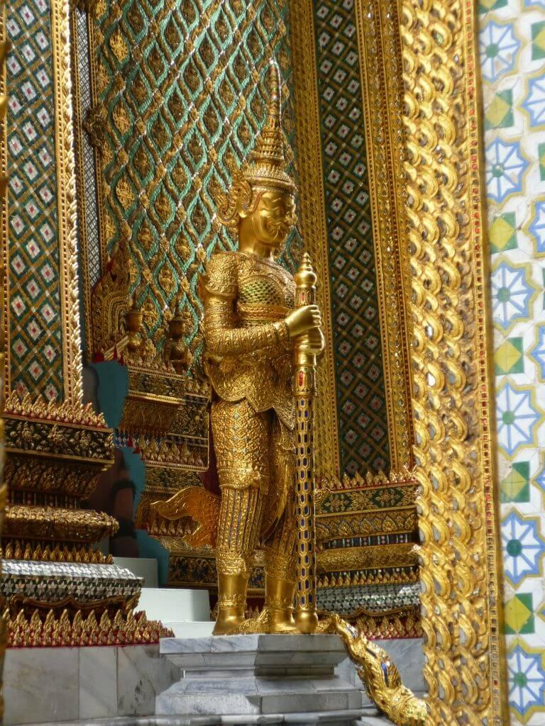 Goldener Wächter am Grand Palace.Bilder und Eindrücke aus Bangkok - Thailand