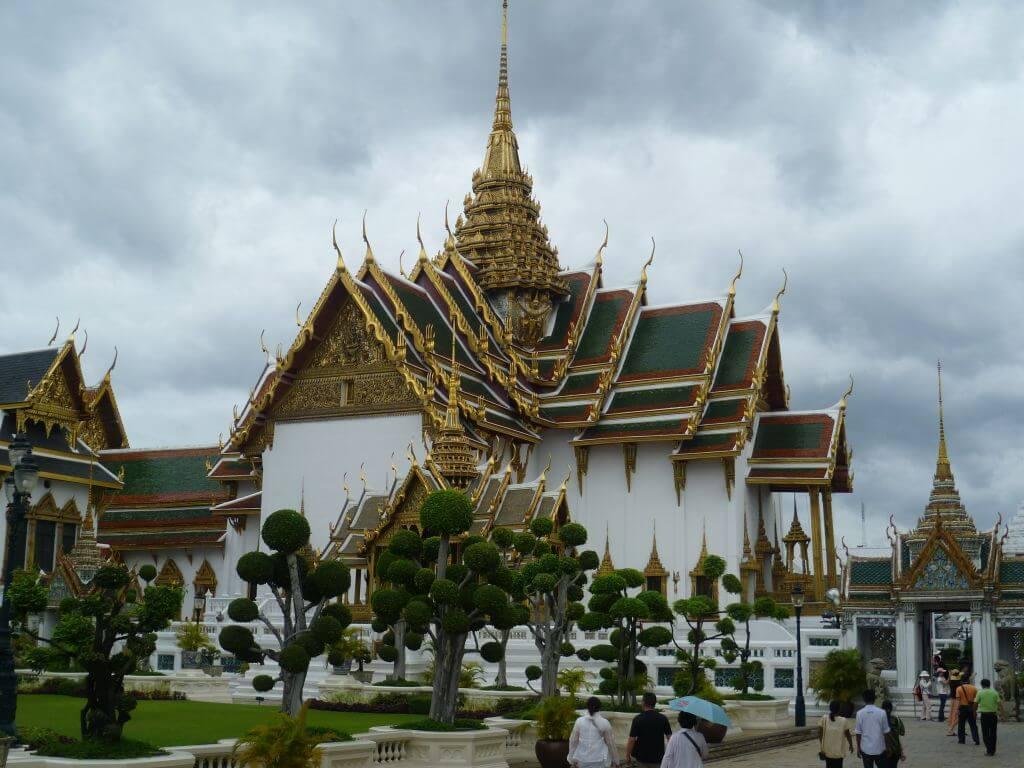 Nebengebäude am Grand Palace. Bilder und Eindrücke aus Bangkok - Thailand