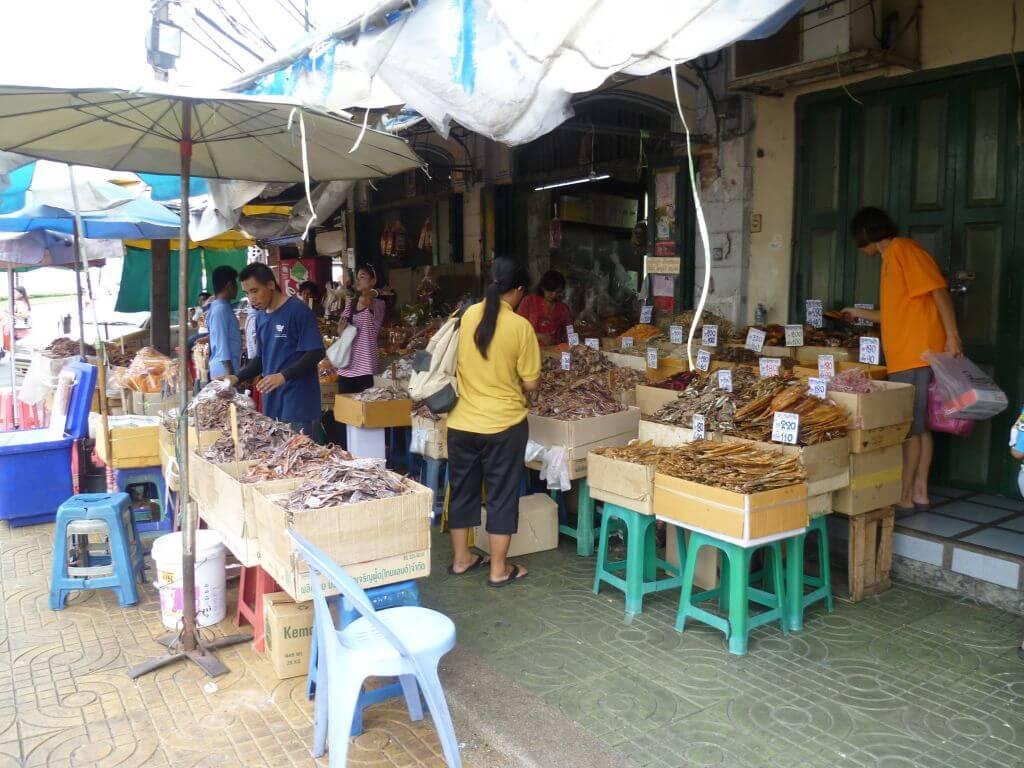 Markt am Grand Palace. Bilder und Eindrücke aus Bangkok - Thailand