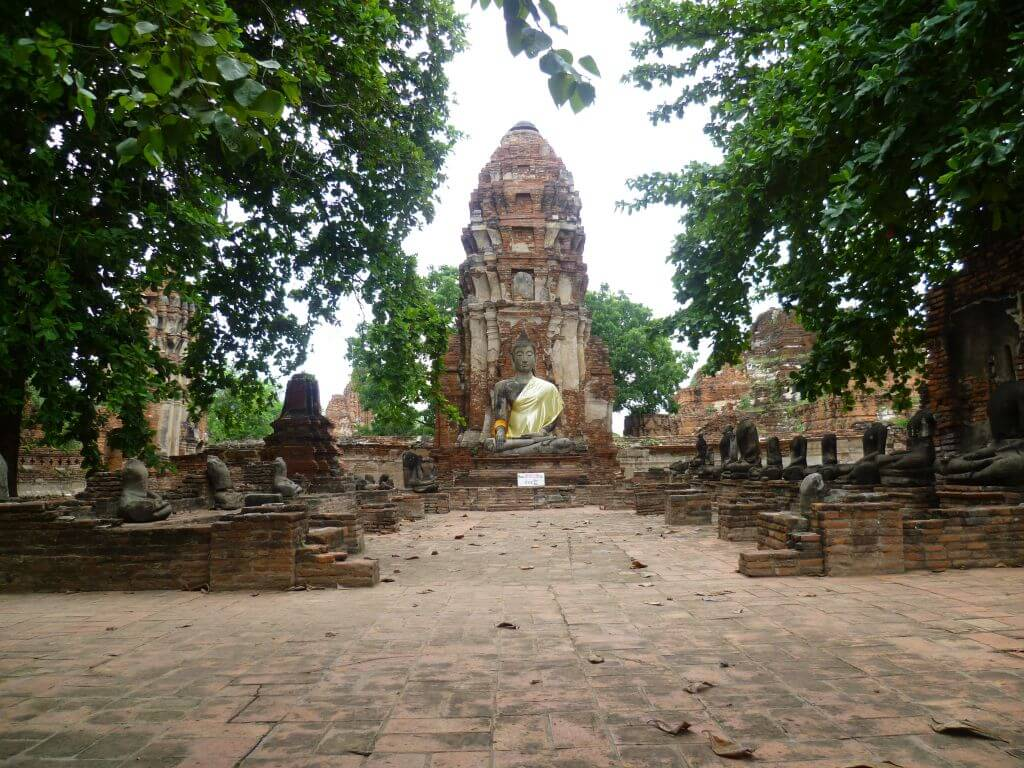 Tempelanlage. Historische Tempel in Ayutthaya, Thailand.