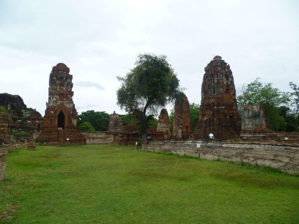 Tempelruinen. Historische Tempel in Ayutthaya, Thailand
