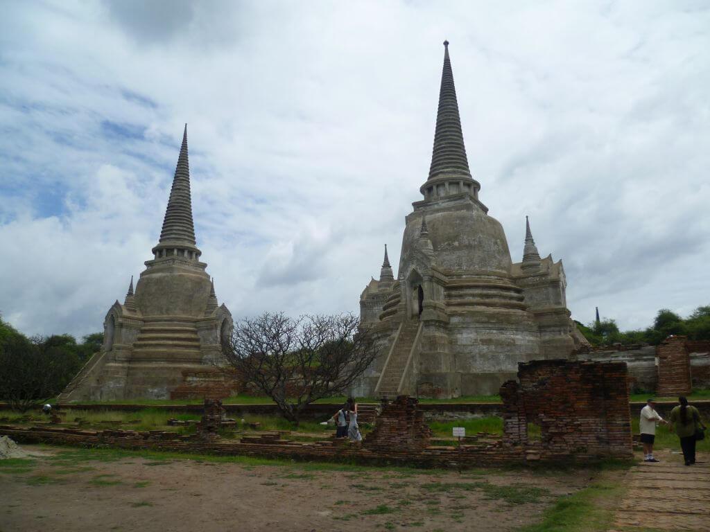 Restaurierte Tempel. Historische Tempel in Ayutthaya, Thailand.