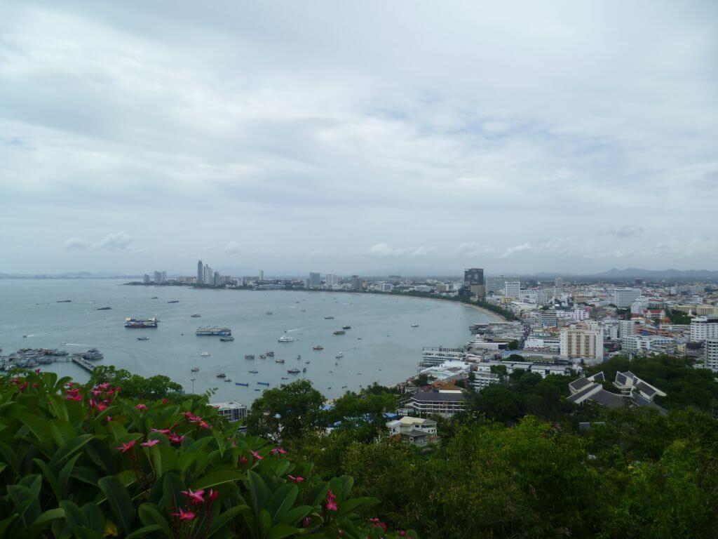 Blick über die Küste, Thailand.