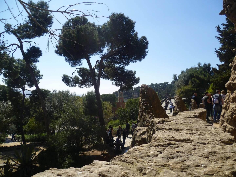 Ausblick im Park Güell. Wochenendtrip zu Gaudi nach Barcelona, Spanien.
