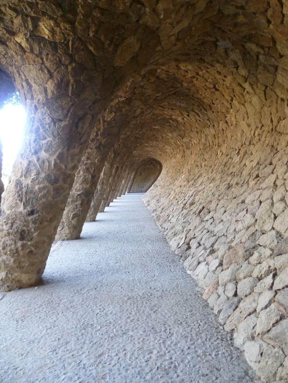 Gaudi Wandelgang. Wochenendtrip zu Gaudi nach Barcelona, Spanien.