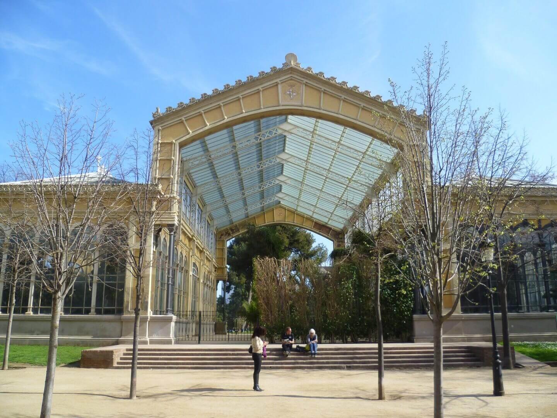 Orangerie im Parc de la Ciutadella. Wochenendtrip zu Gaudi nach Barcelona, Spanien.