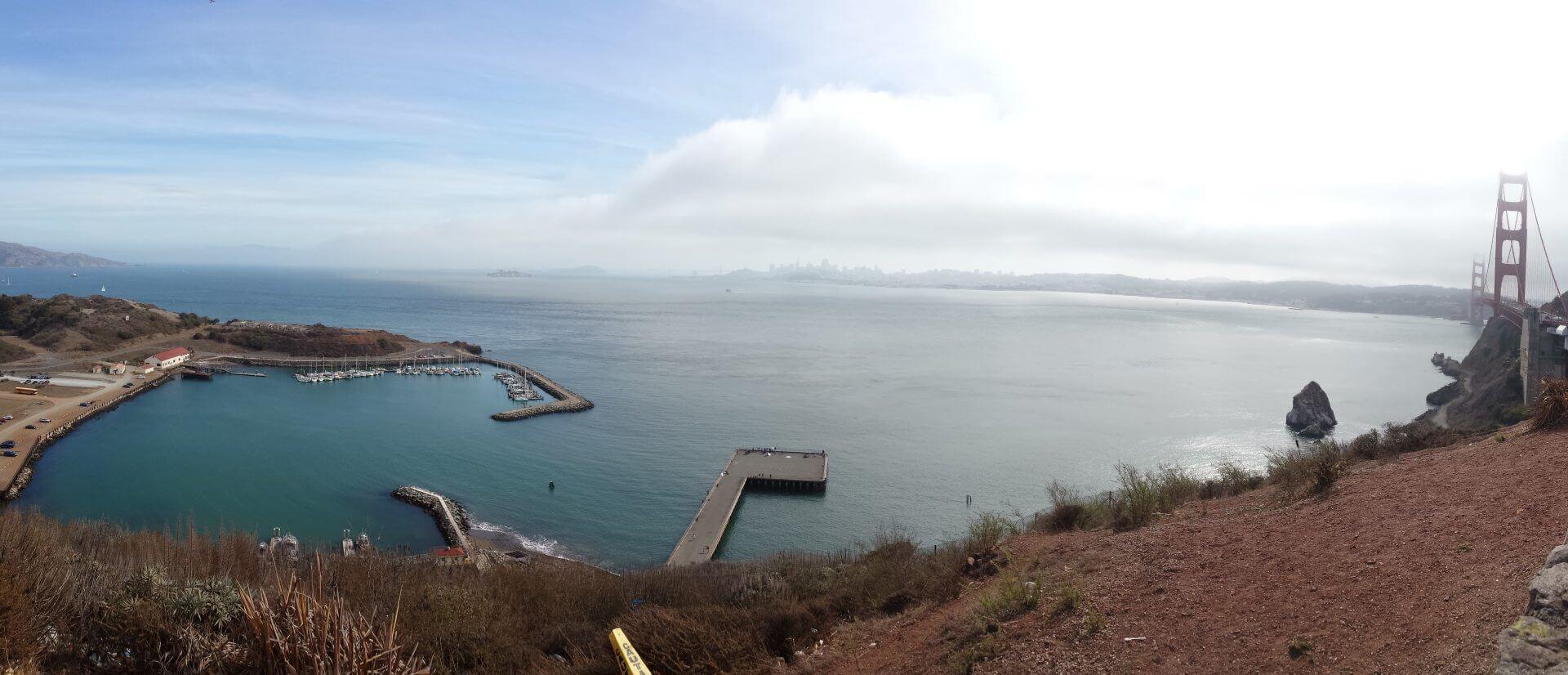 Blick in die Bucht. Bilder und Eindrücke aus San Francisco, California, United States.
