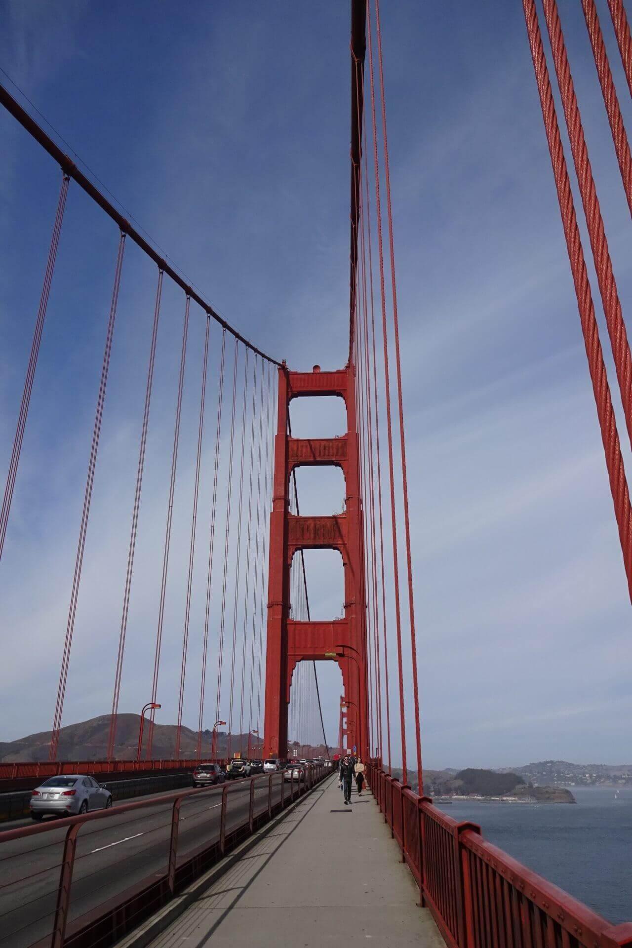 Auf der Golden Gate Bridge. Bilder und Eindrücke aus San Francisco, California, United States.