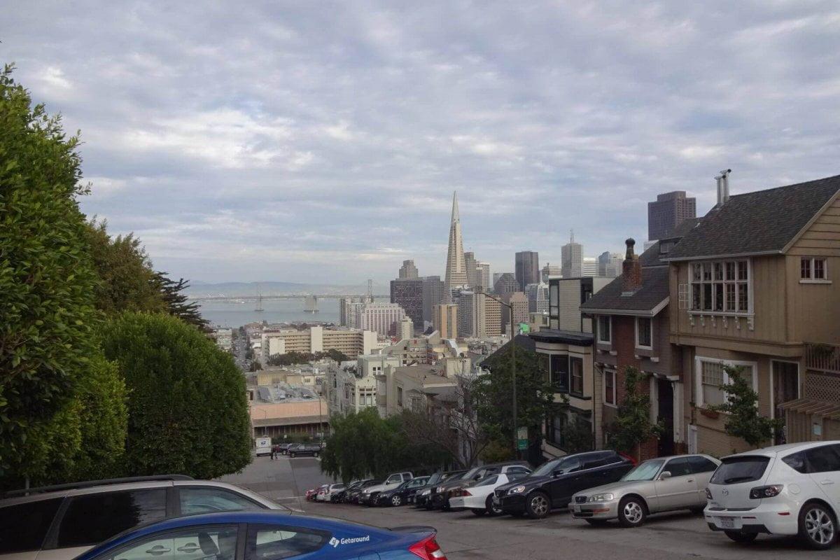 Blick nach Downtown vom Nob Hill. Bilder und Eindrücke aus San Francisco, California, United States.