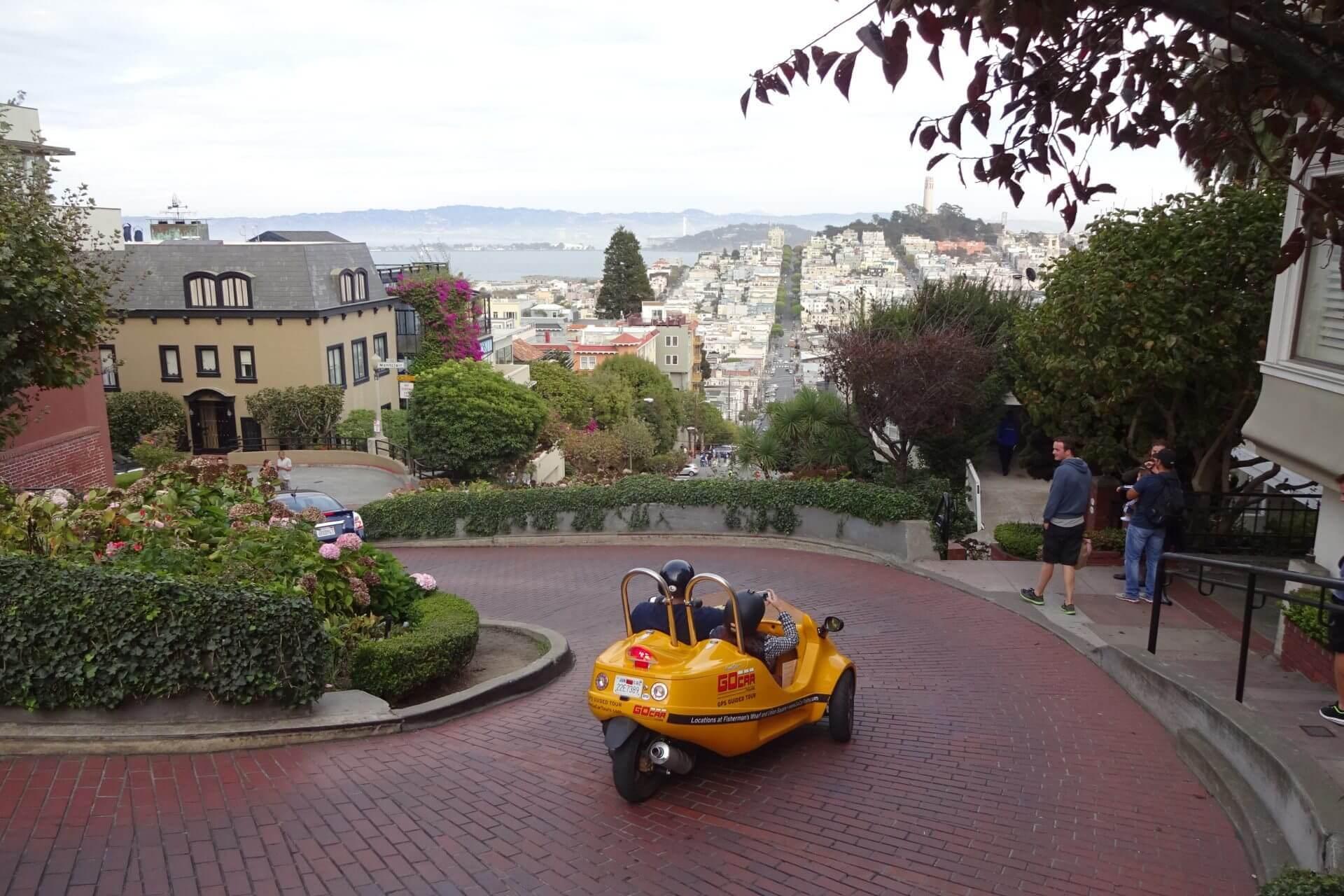 Die Lombard Street. Bilder und Eindrücke aus San Francisco, California, United States.