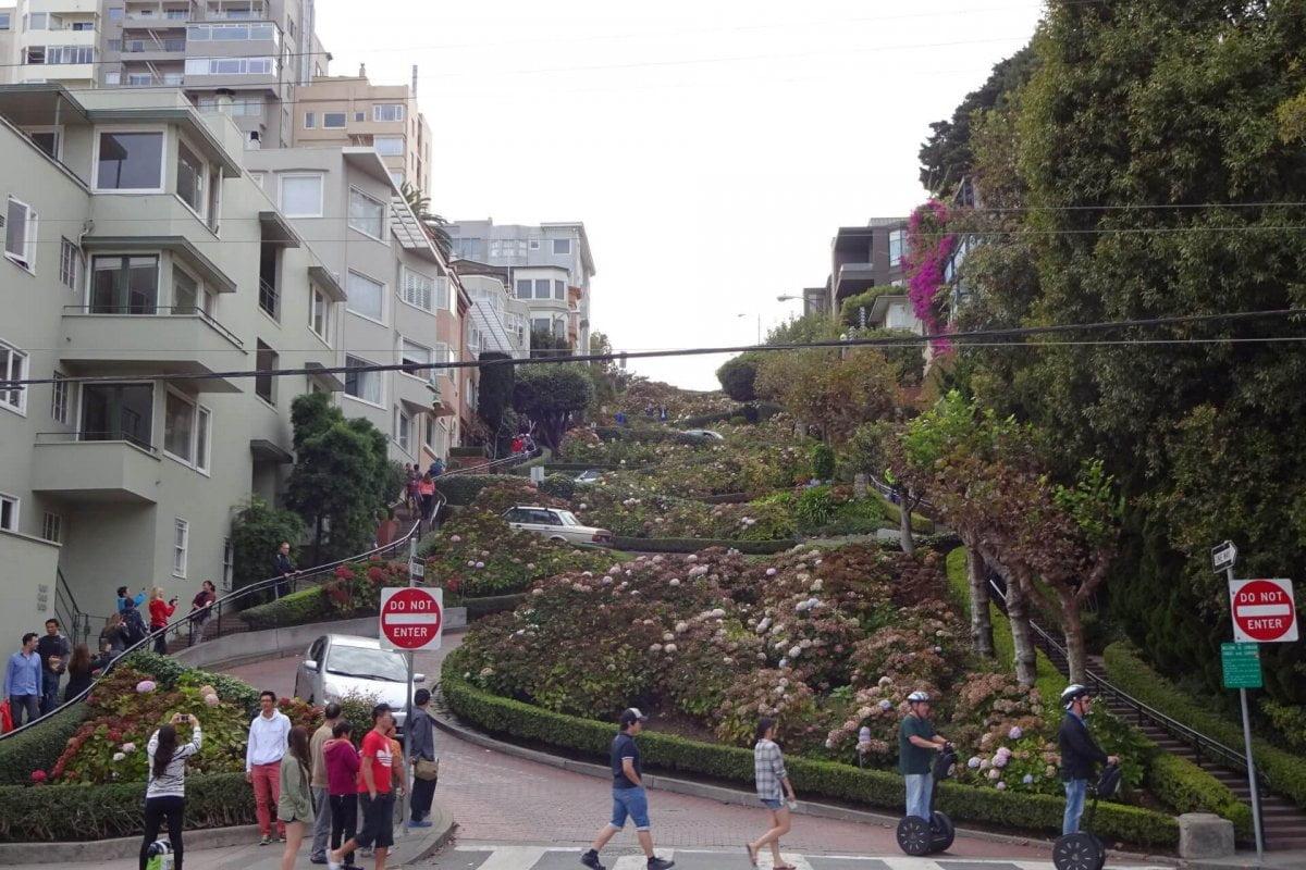 Segway auf der Lombard Street. Bilder und Eindrücke aus San Francisco, California, United States.